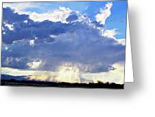 Cloud Storm On The Horizon Greeting Card
