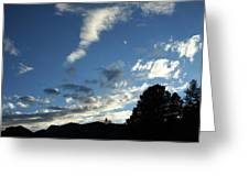 Cloud Sweep And Silhouette Greeting Card
