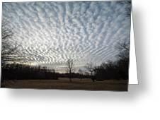 Cloud Symmetry Greeting Card