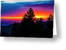 Cloudcroft Sunset Greeting Card