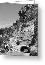 Cloudcroft Tunnel  Black And White Greeting Card
