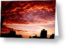 Clouded Fury Greeting Card