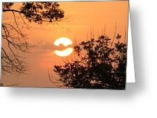 Clouded Over Sunset Greeting Card