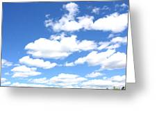 Clouded Sky Greeting Card