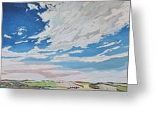 Clouded Sky On The Valley Greeting Card