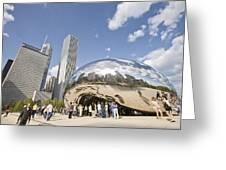 Cloudgate At Millennium Park Greeting Card