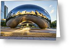 Cloudgate In Chicago Greeting Card