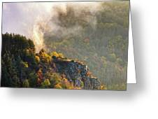 Clouds Above The Crest Of The Mountain Greeting Card