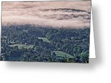 Clouds Above The Valley Panoramic Greeting Card