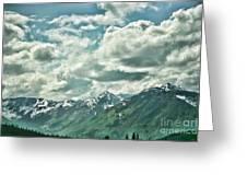 Clouds Alaska Mtns  Greeting Card