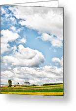 Clouds And Flowers Greeting Card