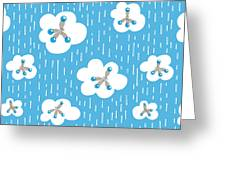Clouds And Methane Molecules Pattern Greeting Card