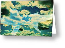 Clouds And Nyc Greeting Card