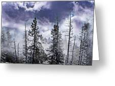 Clouds And Snow Swirling Greeting Card