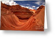 Clouds And Sun Over The Wave Greeting Card