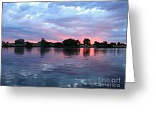 Clouds And Sunset Reflection In Prosser Greeting Card