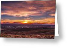 Clouds And Sunset Greeting Card