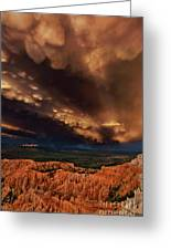 Clouds And Thunderstorm Bryce Canyon National Park  Greeting Card