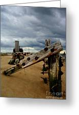 Clouds And Wooden Structure Greeting Card
