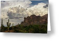 Clouds Bubbling Over The Superstitions  Greeting Card