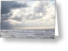 Clouds By The Sea Greeting Card