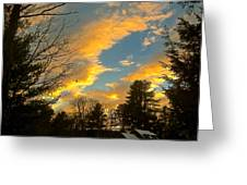 Clouds Catching The Evening Light Greeting Card