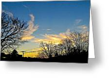 Clouds Dancing To The Sunset Light Greeting Card