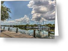 Clouds Down The Bay Greeting Card