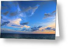 Clouds Drifting Over The Ocean Greeting Card