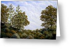 Clouds In Foothills Greeting Card