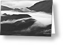 Maui Hawaii Haleakala National Park Clouds In Haleakala Crater Greeting Card
