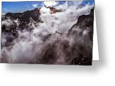 Clouds In The Caldera De Taburiente Greeting Card