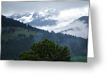 Clouds In The Rockies Greeting Card