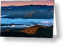 Clouds In The Valley Greeting Card