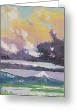Clouds Of Mt Hood Greeting Card