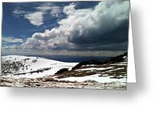 Clouds On The Mountain Greeting Card