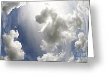 Clouds On The Sky Greeting Card