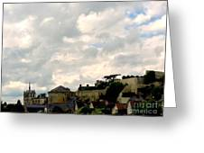 Clouds Over Amboise Greeting Card