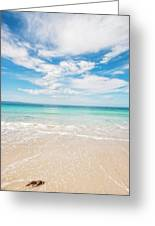 Clouds Over Blue Sea Greeting Card