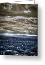 Clouds Over Bristol Hdr Split Toning Greeting Card