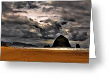 Clouds Over Cannon Beach Greeting Card