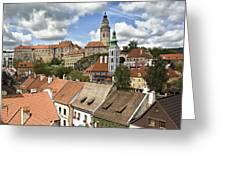 Clouds Over Cesky Krumlov Greeting Card