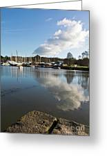 Clouds Over Cockwells Boatyard Mylor Bridge Greeting Card