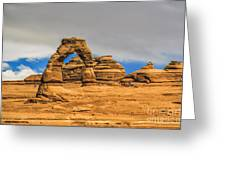Clouds Over Delicate Arch Greeting Card