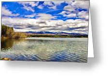 Clouds Over Distant Mountains Greeting Card