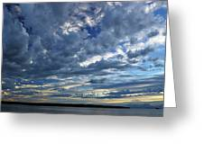 Clouds Over English Bay From Sunset Beach Vancouver Greeting Card