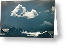 Clouds Over Glacier, Banff Np Greeting Card