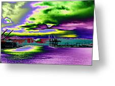 Clouds Over Harbor Island Greeting Card