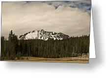 Clouds Over Lassen Peak Greeting Card
