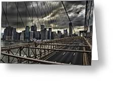 Clouds Over Manhattan Greeting Card